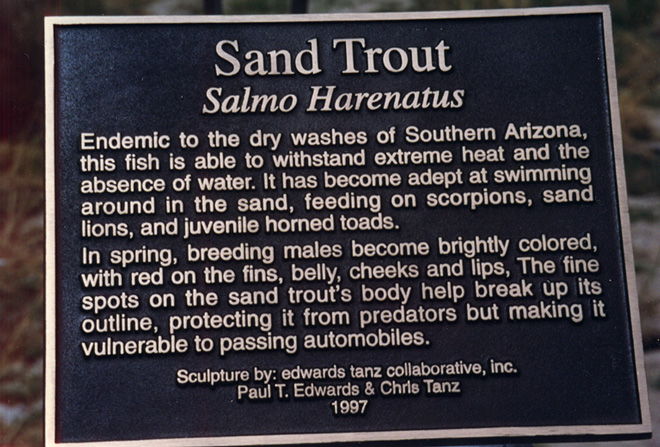 Sand Trout Plaque